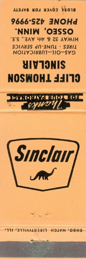 Sinclair matchbook