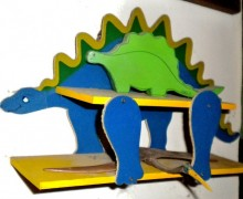 Stegosaurus mini-shelf