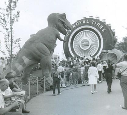 T. rex & tire