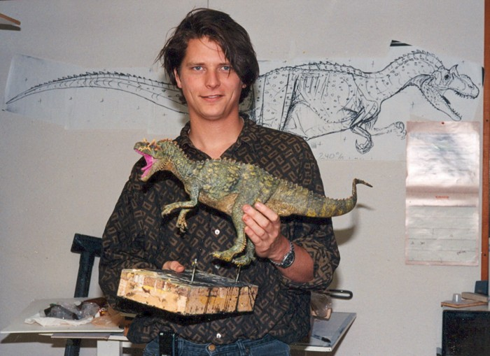 Tom Dickens and Allosaurus model