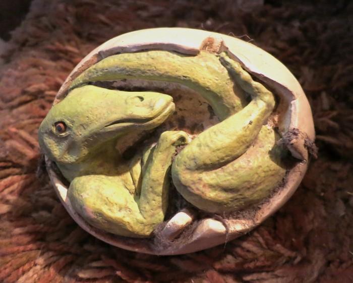 hadrosaur in egg