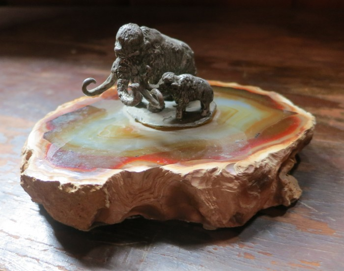 petrified wood with mammoths