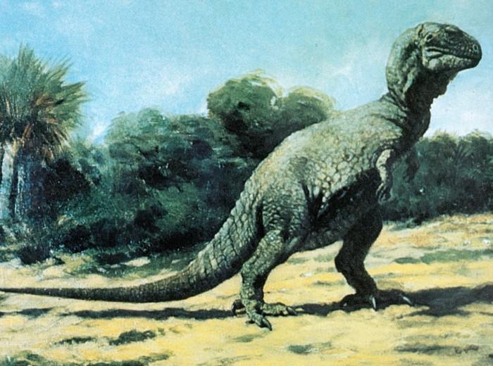 Knight Tyrannosaurus painting