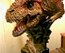Tyrannosaurus half-statue