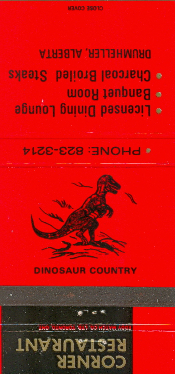 Dinosaur Country matchbook
