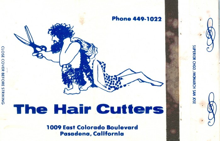 Hair Cutters matchbook