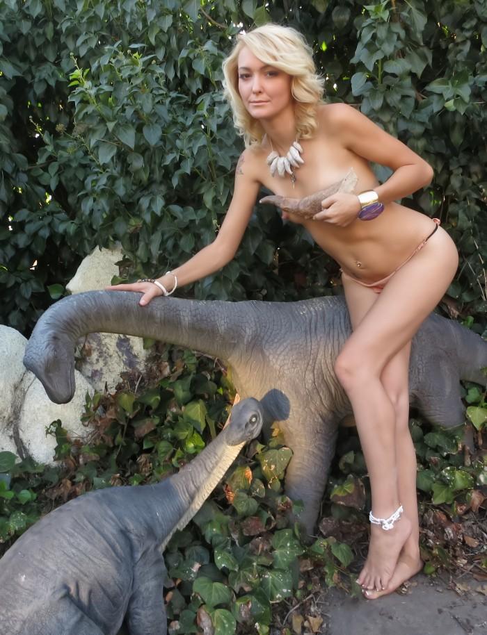 sauropod dinosaur statues