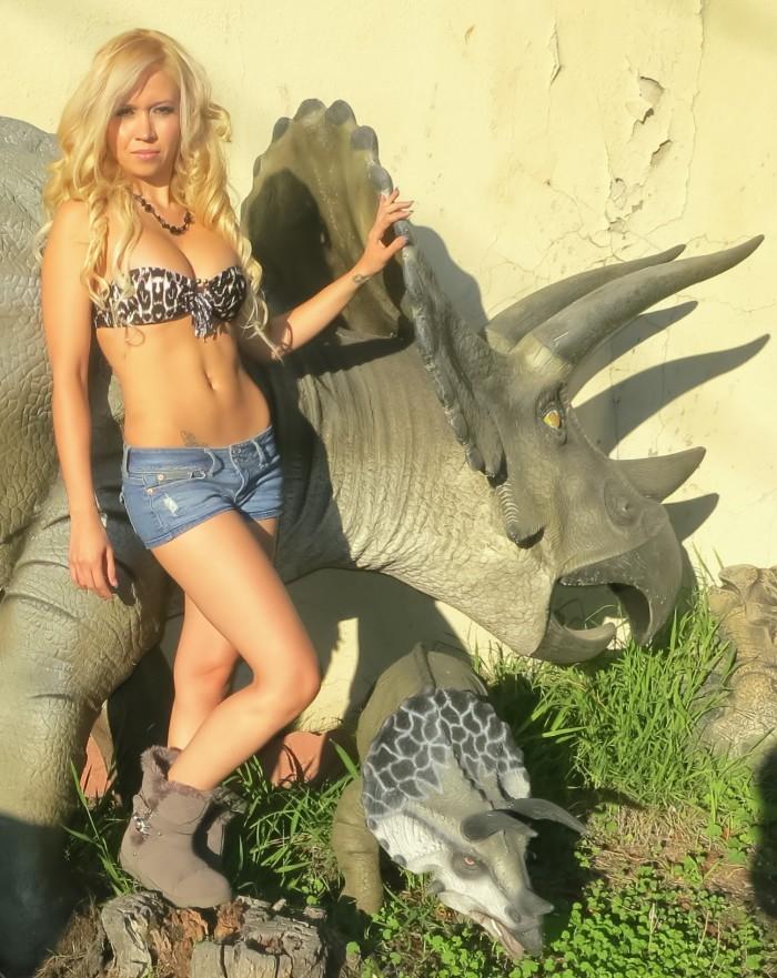 Triceratops statue