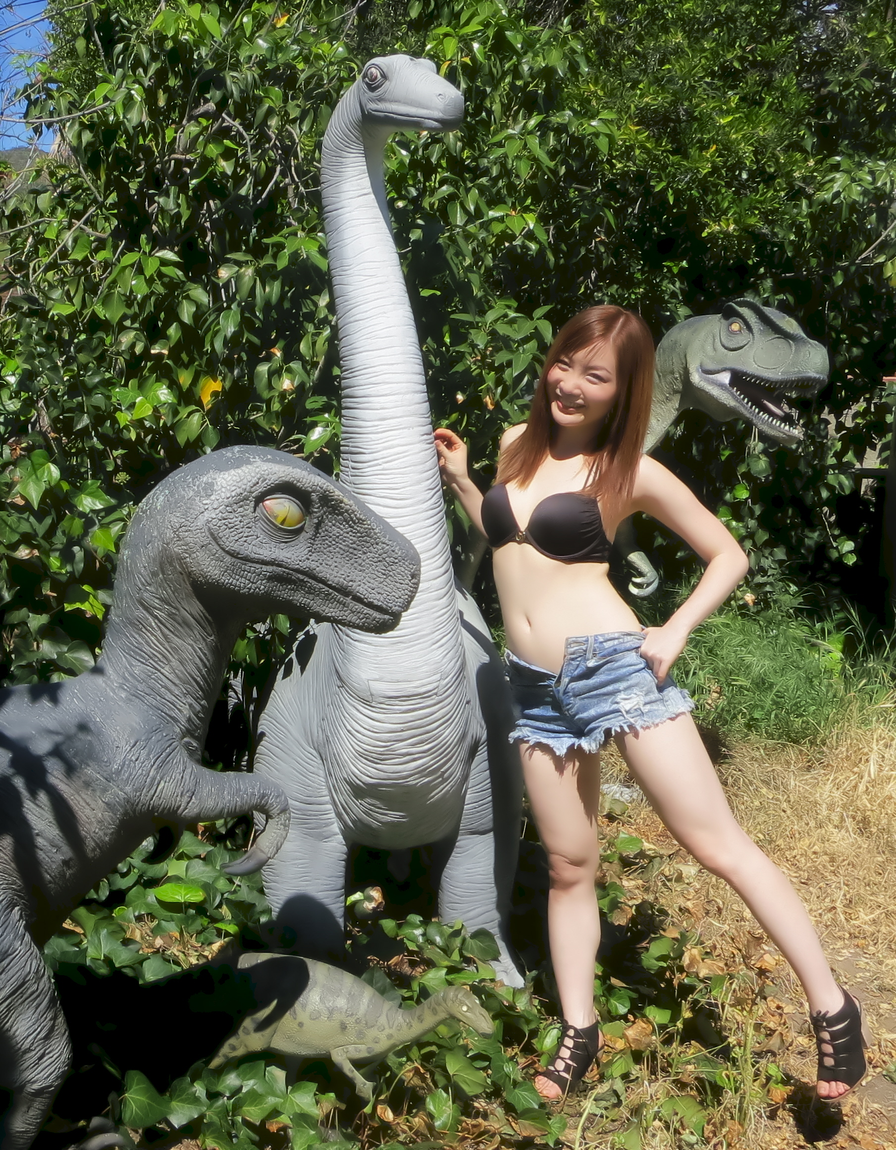 Dinosaur Statues Photo Ops