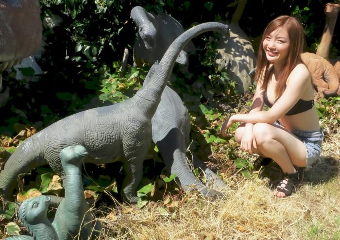 sauropod statues