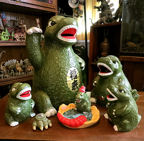 Godzilla ceramics all
