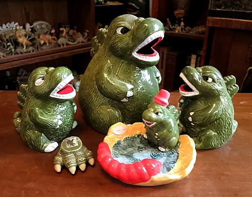 Godzilla ceramics