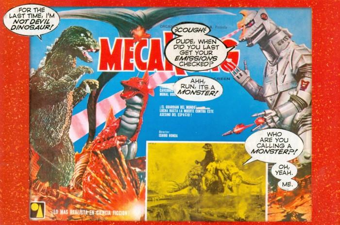 Mechagodzilla postcard