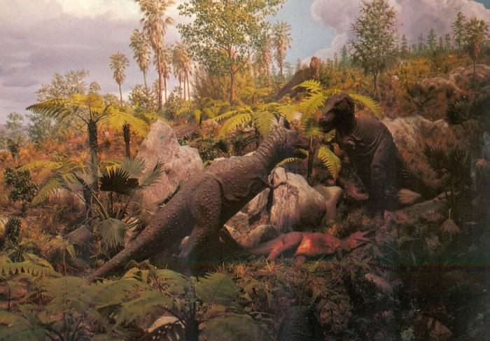 Gorgosaurus diorama