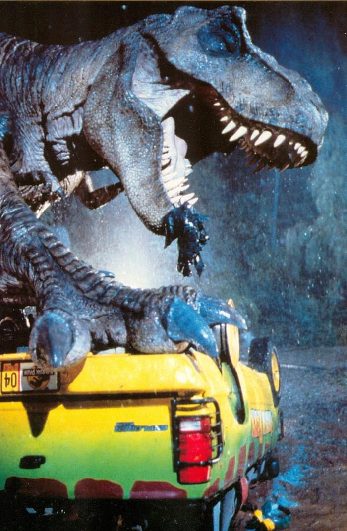 Jurassic Park T. rex postcard