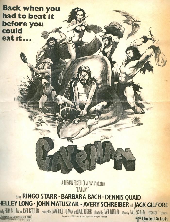 CAVEMAN poster art